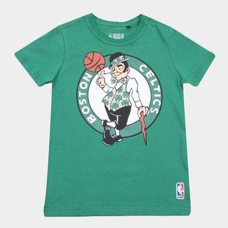 Camiseta NBA Infantil Big Logo Boston Celtics Masculina