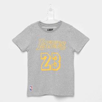Camiseta NBA Infantil James 23 Los Angeles Lakers Masculina