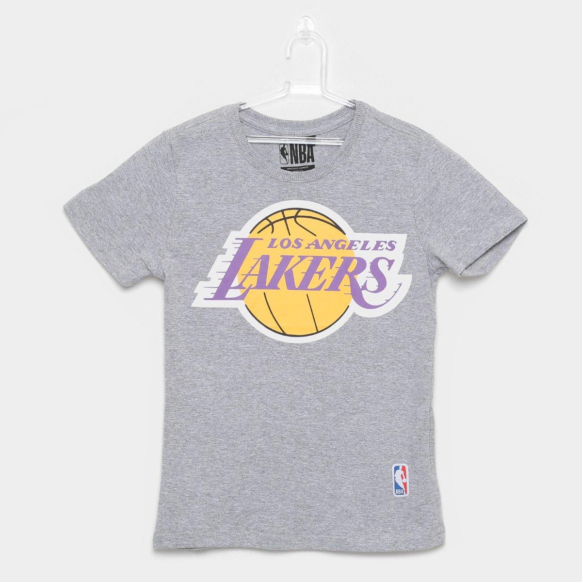 8152fd057 Camiseta NBA Infantil Los Angeles Lakers Big Logo - Cinza - Compre Agora
