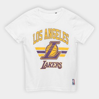 Camiseta NBA Infantil Team Arch Los Angeles Lakers Masculina