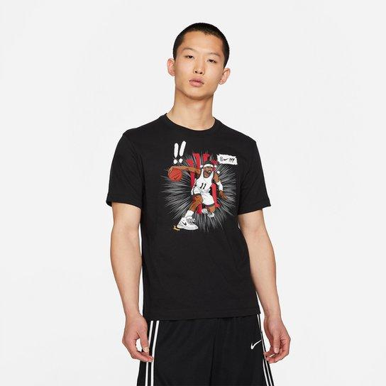 Camiseta NBA Kyrie Irving Nike Ssnl Masculina - Preto