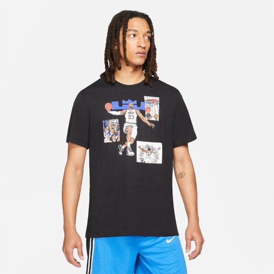 Camiseta NBA LeBron James Nike Ssnl Masculina - Preto