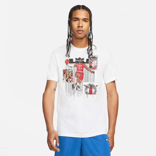 Camiseta NBA LeBron James Nike Ssnl Masculina - Branco