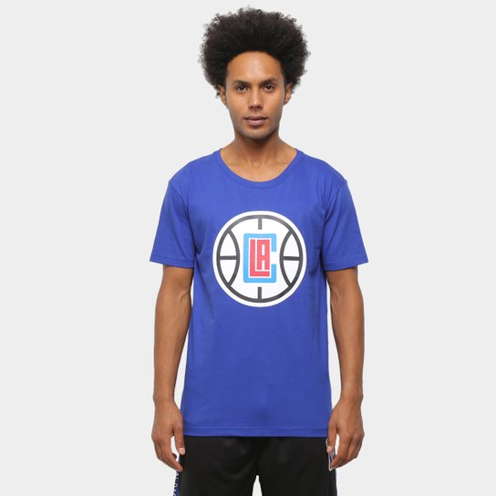 Camiseta NBA Los Angeles Clippers Logo Masculina - Azul
