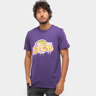 Camiseta NBA Los Angeles Lakers Arte Grafite Masculina