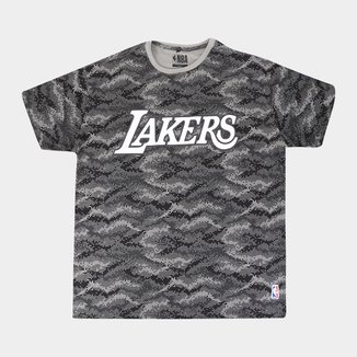 Camiseta NBA Los Angeles Lakers Camuflada Plus Size Masculina
