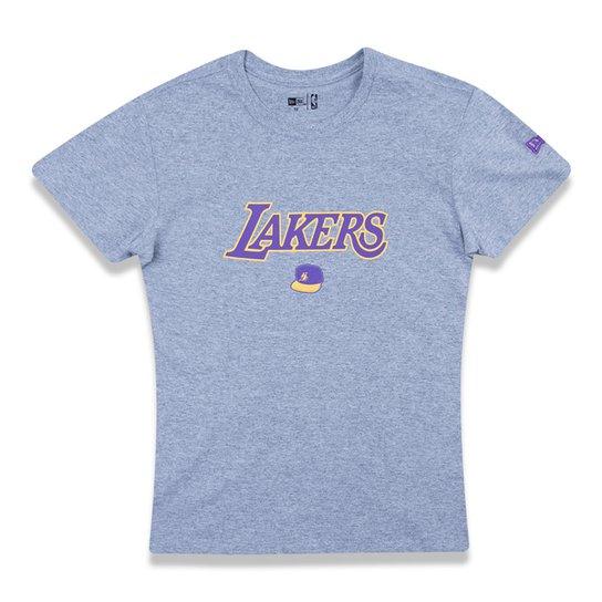 Camiseta NBA Los Angeles Lakers Infantil Cap - Mescla