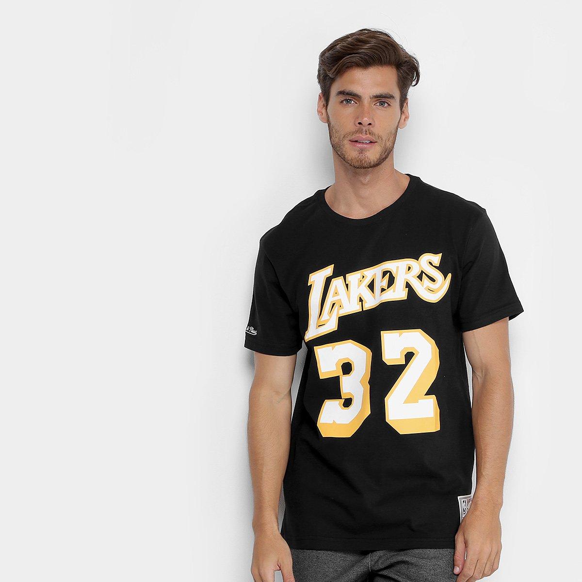 e0586efd8 Camiseta NBA Los Angeles Lakers Mitchell   Ness Magic Johnson Masculina - Compre  Agora