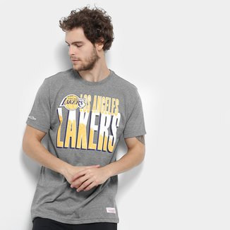 Camiseta NBA Los Angeles Lakers Mitchell & Ness Scribble Fill Masculina