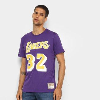 Camiseta NBA Los Angeles Lakers nº 32 Magic Johnson Mitchell & Ness Masculina