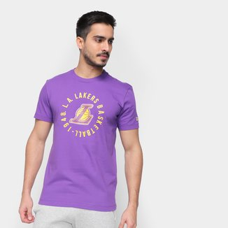 Camiseta NBA Los Angeles Lakers New Era College Team Circle Masculina
