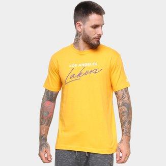 Camiseta NBA Los Angeles Lakers New Era Core Handsign Masculina
