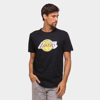 Camiseta NBA Los Angeles Lakers New Era Logo Masculina