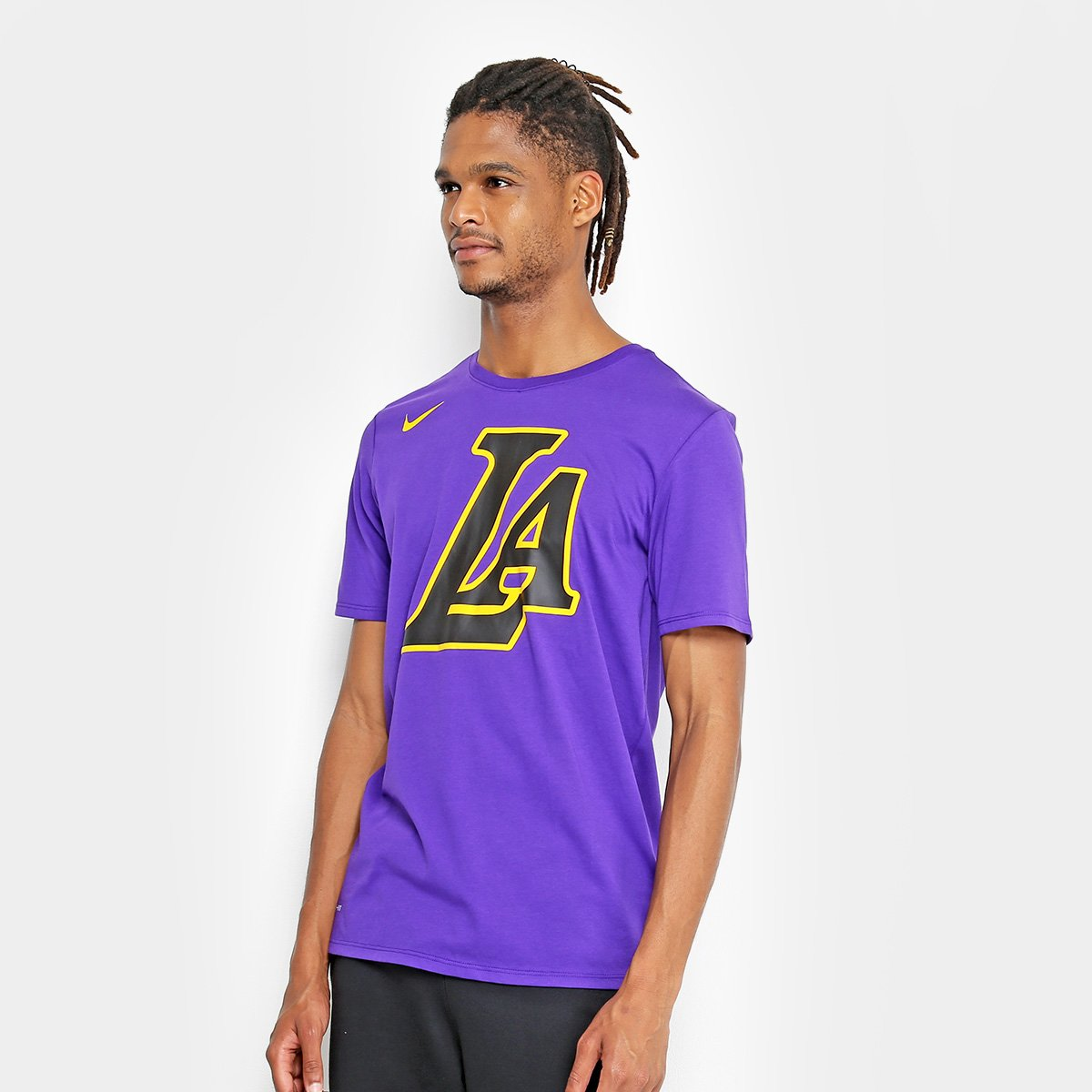 Camiseta NBA Los Angeles Lakers Nike City Edition Dry ES CE Masculina ... d9ce5cdc65098