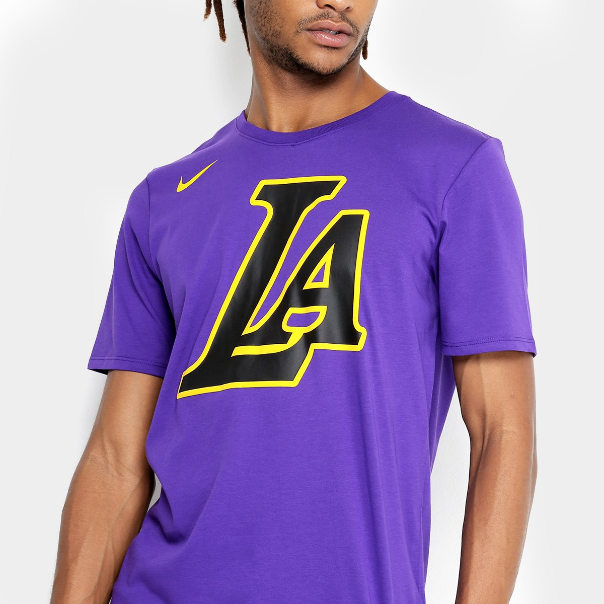 ... Camiseta NBA Los Angeles Lakers Nike City Edition Dry ES CE Masculina b689cdee7d97b