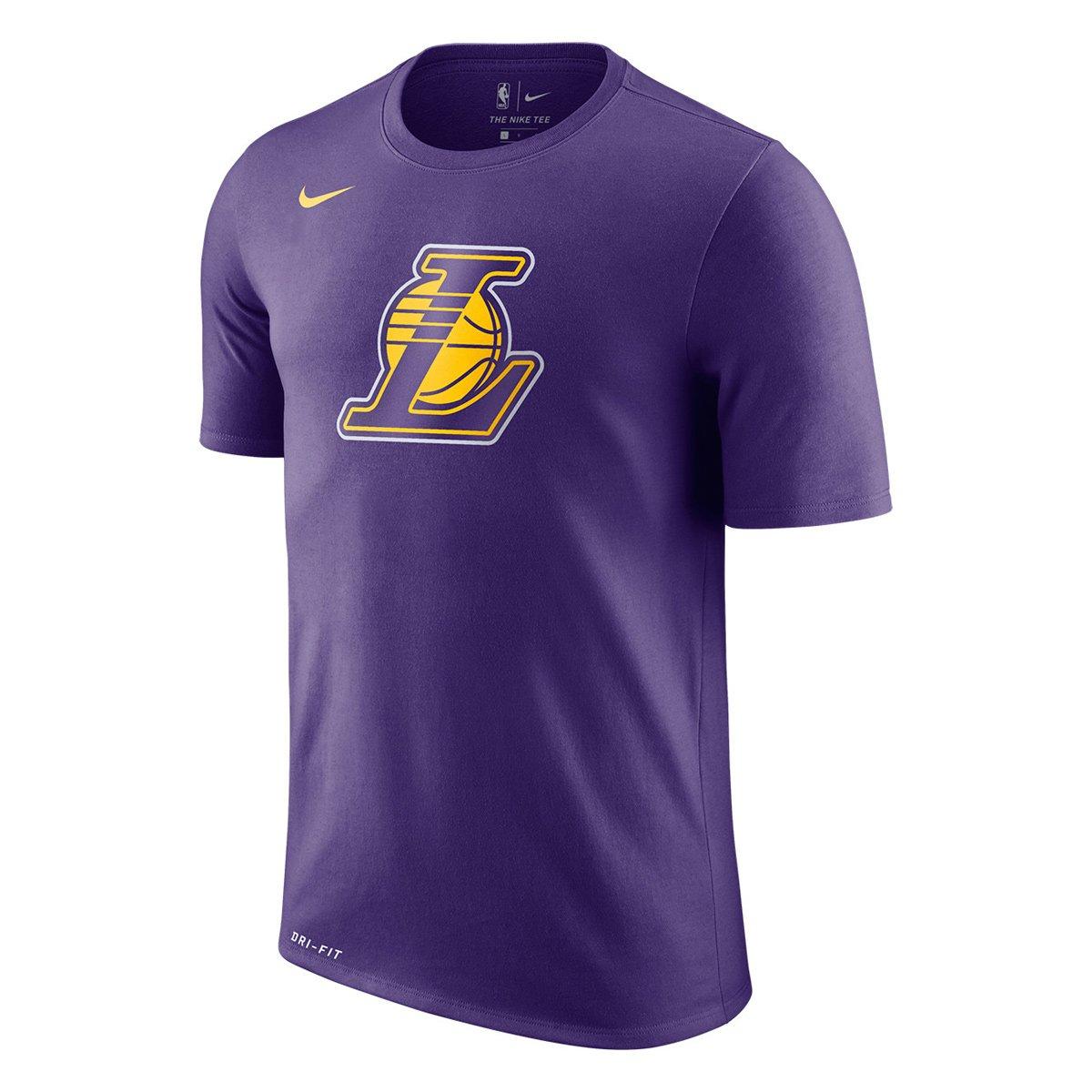 4fef326d3 Camiseta NBA Los Angeles Lakers Nike Logo Masculina - Compre Agora ...