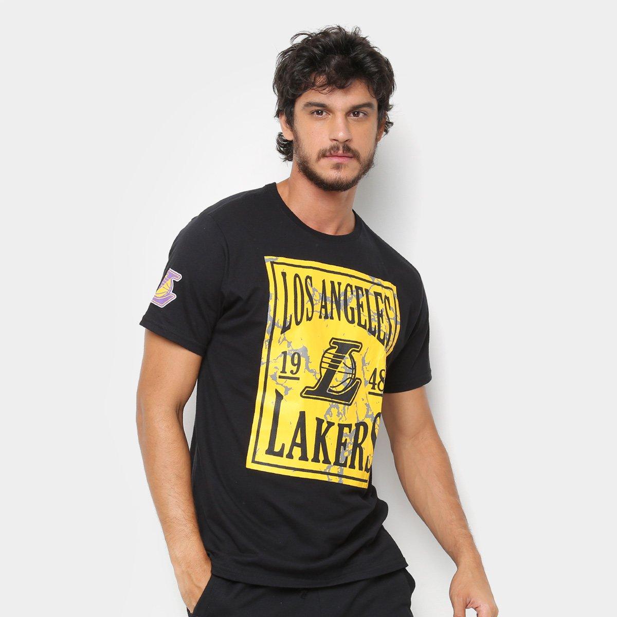 ec6e213f1 Camiseta NBA Los Angeles Lakers Ticket Masculina - Preto - Compre Agora