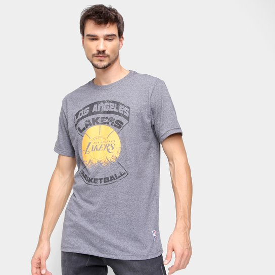 Camiseta NBA Los Angeles Lakers Urban Masculina - Grafite