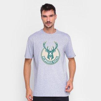 Camiseta NBA Milwaukee Bucks Logo New Era Logo Masculina