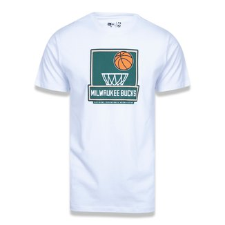 Camiseta NBA Milwaukee Bucks New Era Dual Sport Shoot Masculina