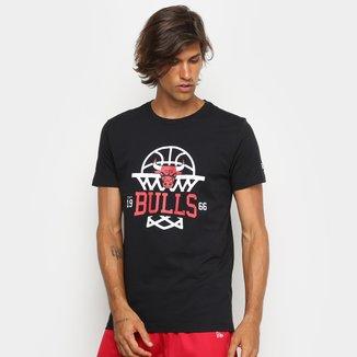 Camiseta NBA New Era Chicago Bulls Essentials SP Cesta Masculina