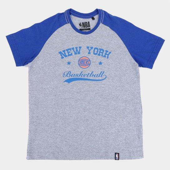 Camiseta NBA New York Knicks Juvenil Masculina - Mescla