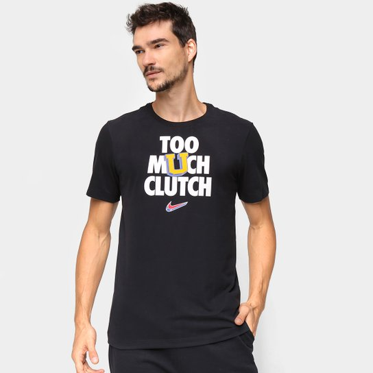 Camiseta NBA Nike Dri-FIT Verbiage Masculina - Preto