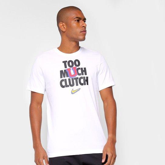 Camiseta NBA Nike Dri-FIT Verbiage Masculina - Branco
