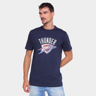 Camiseta NBA Oklahoma City Thunder New Era Logo Masculina