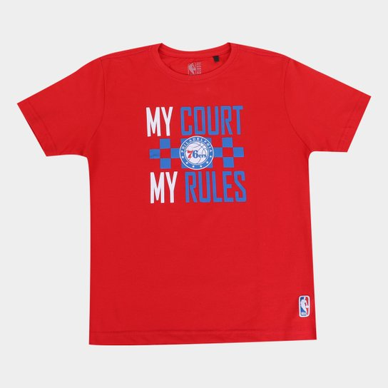 Camiseta NBA Philadelphia 76Ers Juvenil Masculina - Vermelho