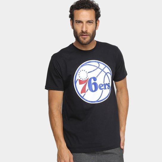 Camiseta NBA Philadelphia 76ers Masculina - Preto