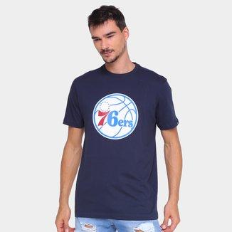 Camiseta NBA Philadelphia 76ers New Era Logo Masculina