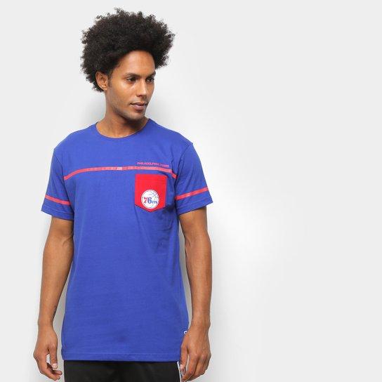 Camiseta NBA Philadelphia 76ers Pock Masculina - Azul