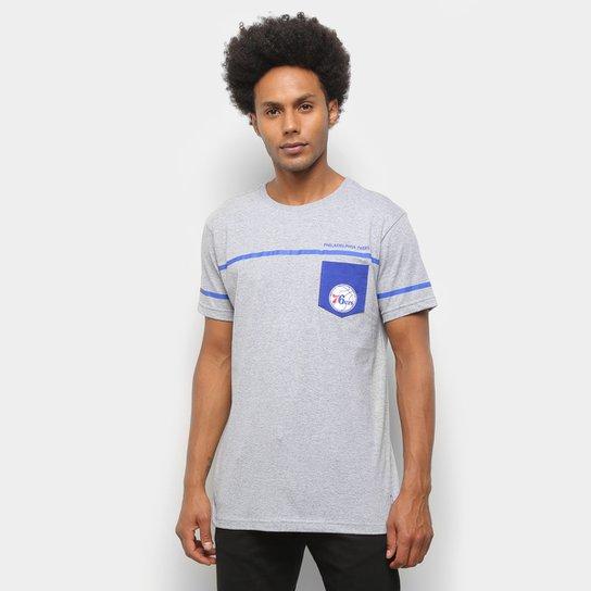 Camiseta NBA Philadelphia 76ers Pock Masculina - Cinza