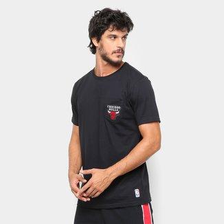 Camiseta NBA Pocket Logo Chicago Bulls Masculina