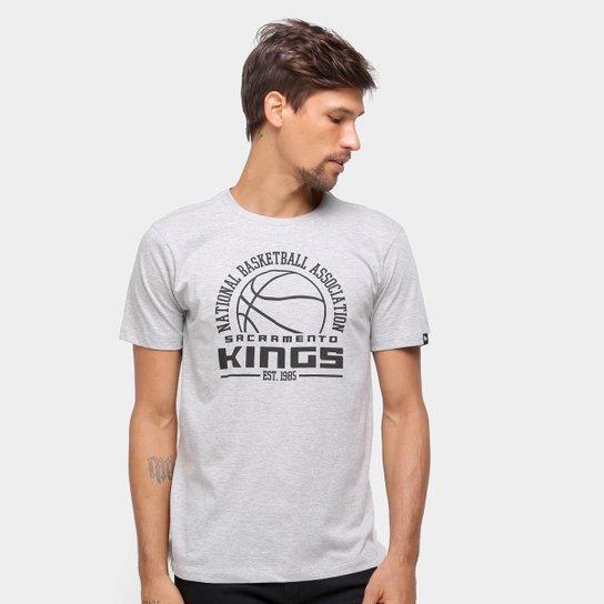 Camiseta NBA Sacramento Kings New Era College Game Ball Masculina - Mescla