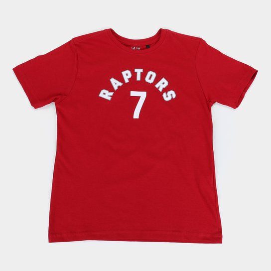 Camiseta NBA Toronto Raptors Juvenil Masculina - Vermelho
