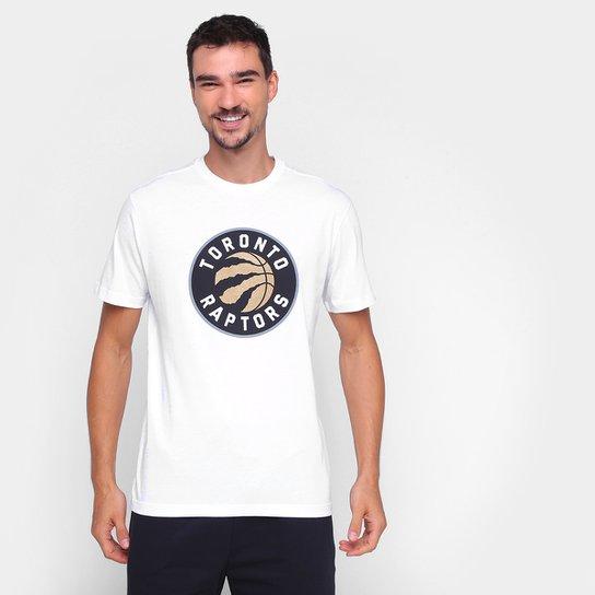 Camiseta NBA Toronto Raptors New Era Logo Masculina - Branco