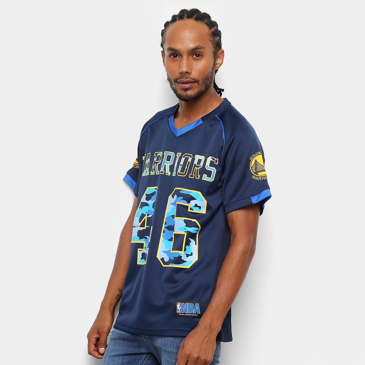 Camiseta NBA Warriors Futebol Americano 17 Masculina - Marinho e ... 98718dc2c20ea