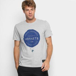Camiseta New Era NBA Charlotte Hornets Essentials Stamp Masculina