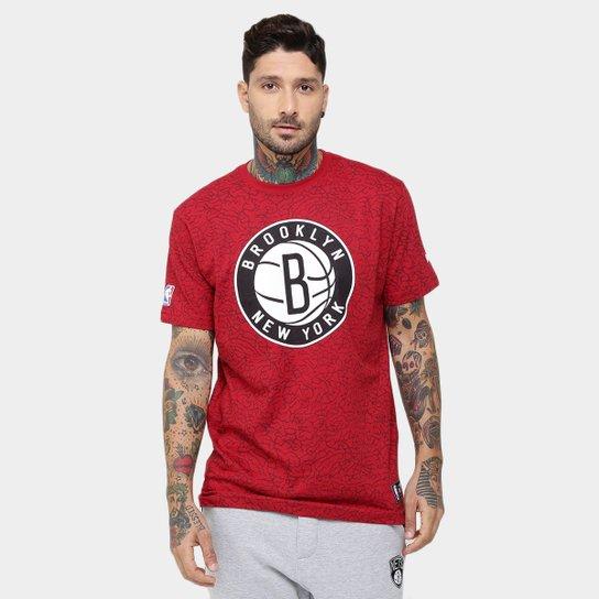 Camiseta New Era NBA Full Print Brooklyn Nets - Loja NBA
