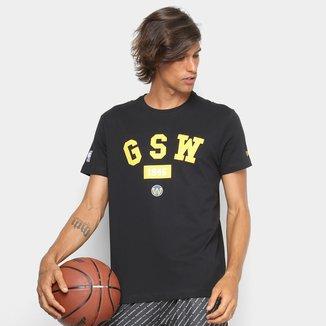 Camiseta New Era NBA Golden State Warriors Essentials Masculina