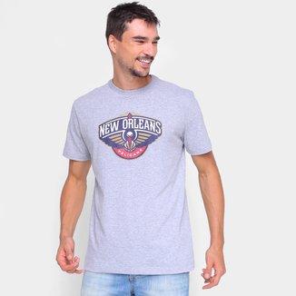 Camiseta New Era NBA New Orleans Pelicans Logo Masculina