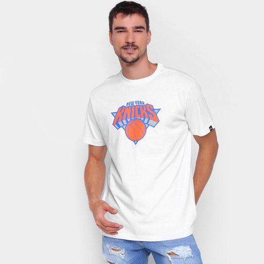 Camiseta New Era NBA New York Knicks Logo Masculina - Branco