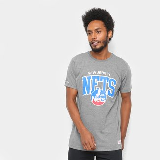 Camiseta New Jersey Nets Mitchell & Ness Time Arch Masculina