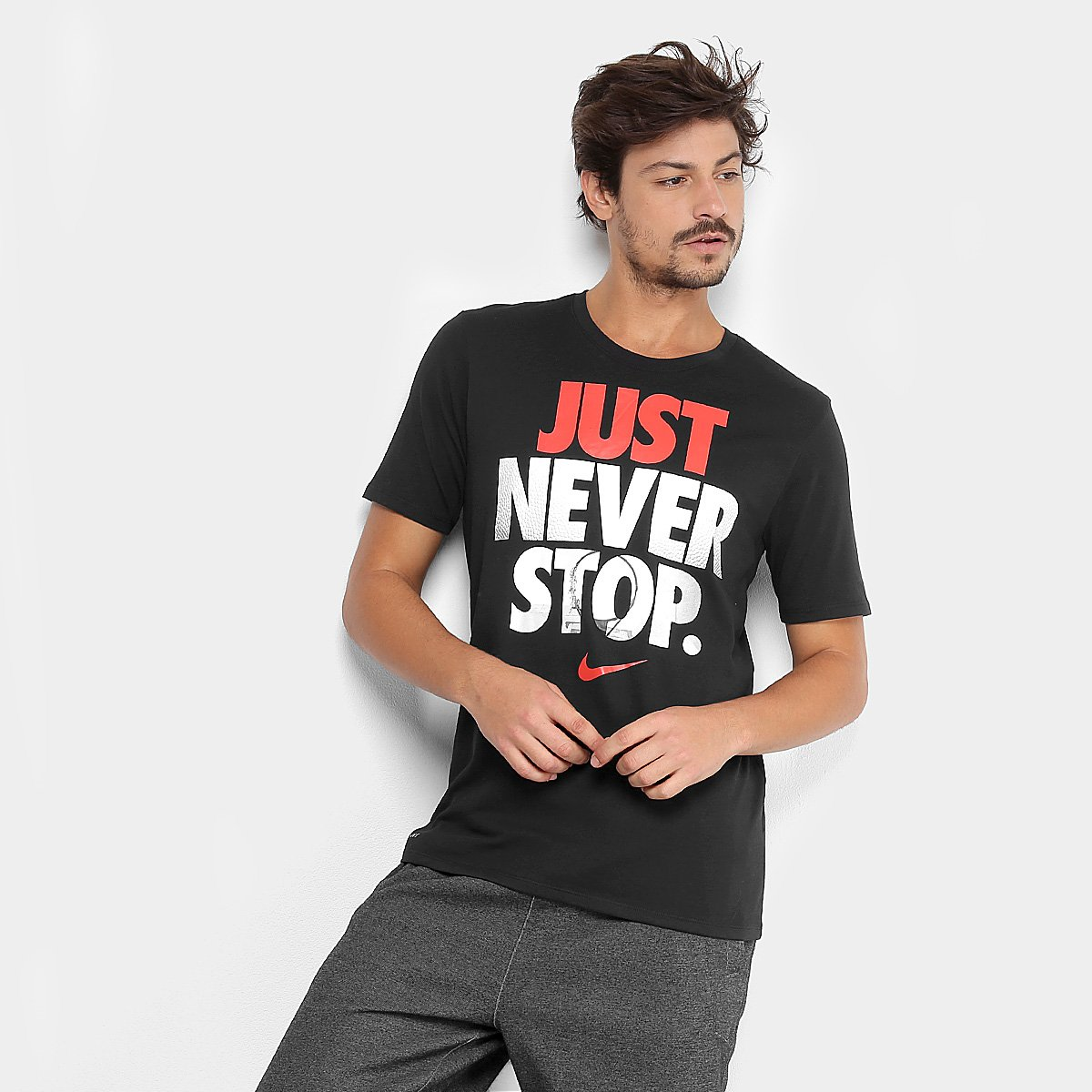 Camiseta Nike Dry Just Never Stop Masculina - Compre Agora  d11147413ef4a