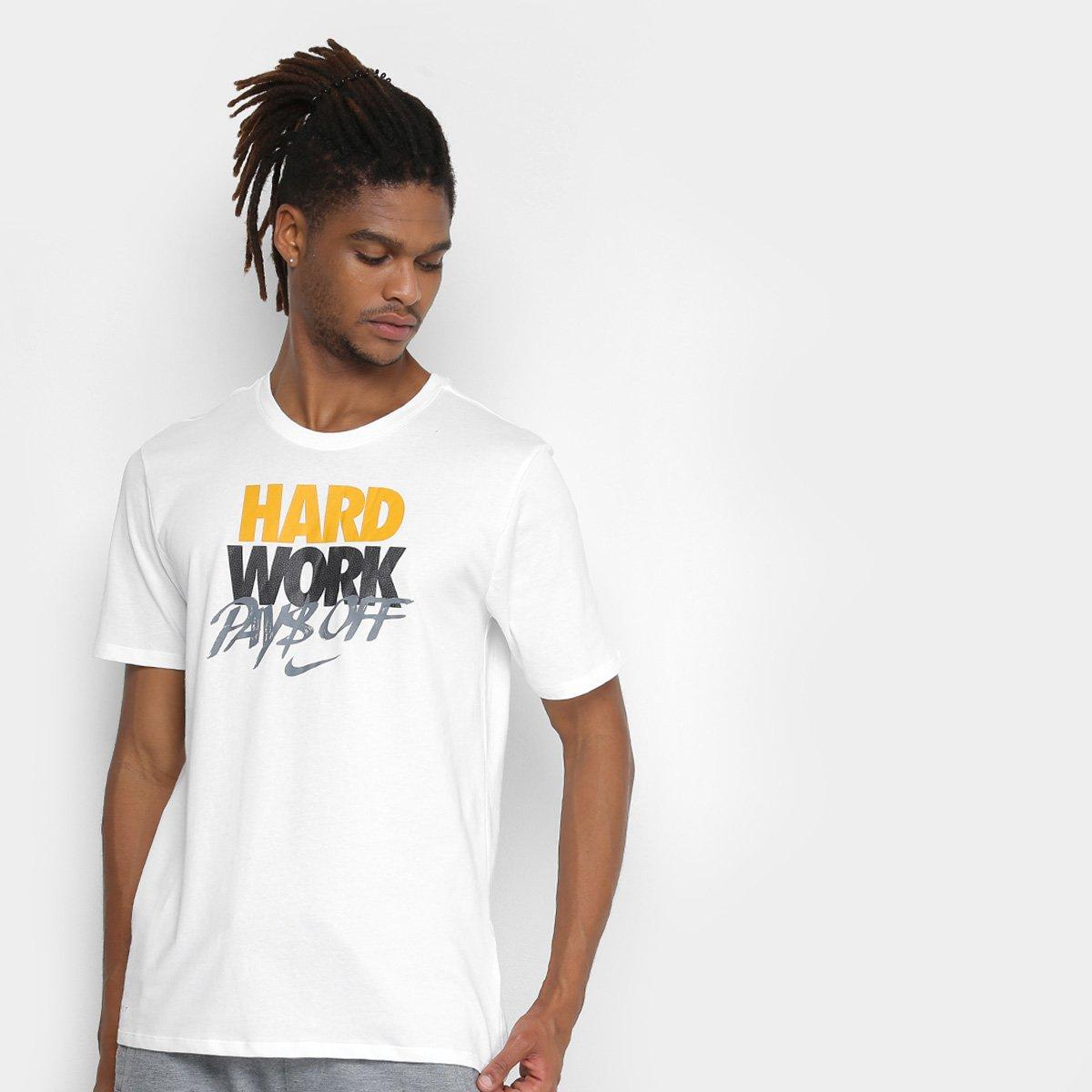Camiseta Nike Hard Work Masculina - Branco - Compre Agora  7d27dff8bda71