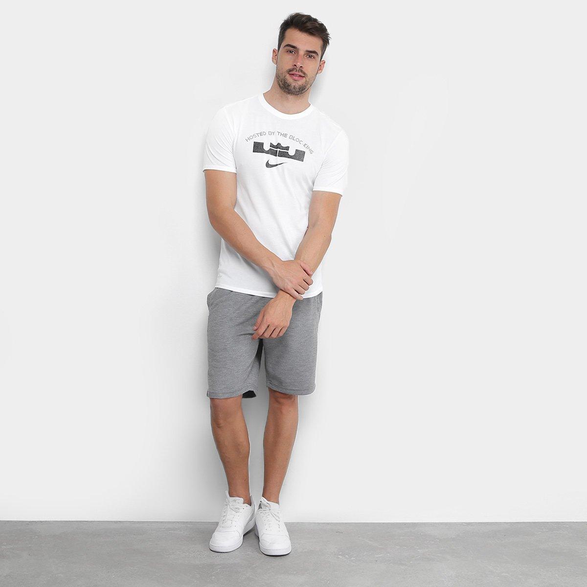 69bfc6b68b Camiseta Nike Lebron James Block Masculina - Branco - Compre Agora ...