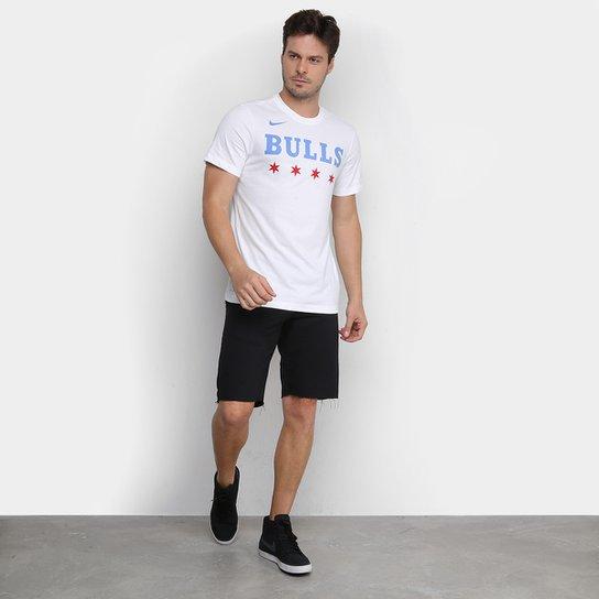 Disminución Salón juego  Camiseta Nike NBA Chicago Bulls City Edition Masculina - Branco | Loja NBA