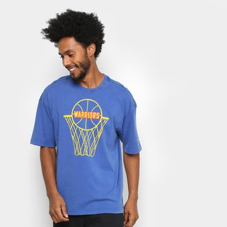 Camiseta Nike NBA Golden State Warriors Classic Logo Masculina